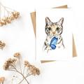 Greeting Card 'Tabby Cat''