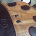 Hand Carved Children's Chair Stool Wooden GIRAFFE Theme