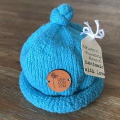 Newborn Gumdrop Beanie - Teal