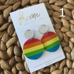 Recycled Rainbow Silver Glitter Earrings | Unique | Gift for women | Ecofriendly