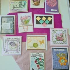 Floral arrangement cards