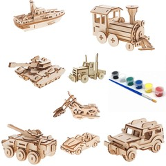 Build and Paint your own Model kit set 8 different vehicles in bundle plus 8 pai