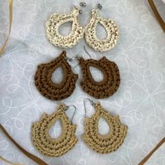 Raffia Crochet Earrings