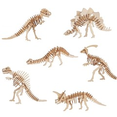 Build and Paint your own Dinosaurs- set 6 Press Out & Build -6 different Dinosau