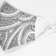 Face Mask 3 Layers - reusable  *Paisley* washable Australia made