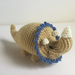 Triceratops   -  crocheted, knitted, softies