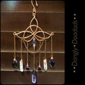 Celtic Knot with Stone Suncatchers (4x available)