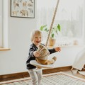 Best Kids swing, wooden swing sets indoor and outdoor swing, natural European ma