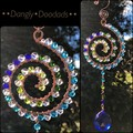 Beaded wire spiral suncatchers (4x available)