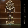 Dragonfly Chainmaille & Glass Suncatchers (2x available)