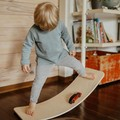 Natural Wooden Balance Board for Kids & Toddlers, Wood Wobble Toy for Practicing