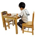 Kids Wooden Table + 2 Chairs Set Airplane and Trains Timber Children Furniture