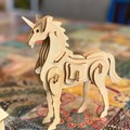 Build and Paint your own Unicorn wood press out and build model kit