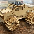 Model car 3D Ply Wood puzzle- Build and Paint your own 4 x 4 Truck Car craft kit