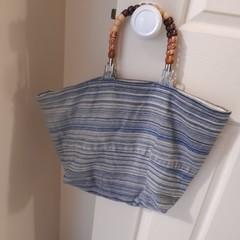 Denim Stripe Handbag