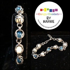 Mother of Pearl & Apatite Chainmaille Bracelet
