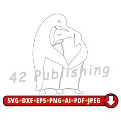 Penguin SVG Template cut file for vinyl cutters, penguin applique, penguin files