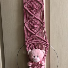 Baby Girl Pink Macrame