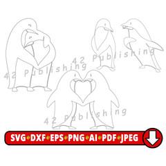 COMBO Listing - 3 Designs. Penguin SVG Template cut file for vinyl cutters, peng