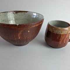 Woodfire gift set mug and bowl