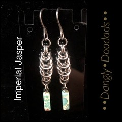 Chainmaille & Semiprecious Stone Earrings (various styles)