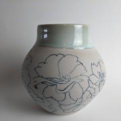 Mishima flower vase