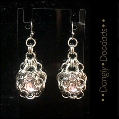 Chainmaille & Rhinestone Earrings (various colours)