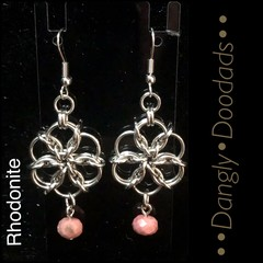 Chainmaille & Stone Daisy Earrings (various styles)