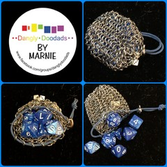 Chainmaille Pouches (and dice sets)