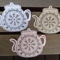 Battenburg Lace Tea Pot