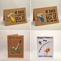 Handmade Father's Day Card with Crochet Embellishment