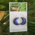Dark Shimmer Crescent Moon Dangle earrings