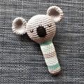 crocheted koala baby rattle