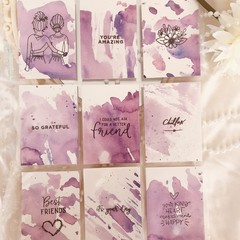 Mini Watercolour Art - Purple