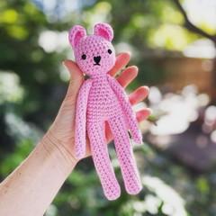 Tiny pink bear