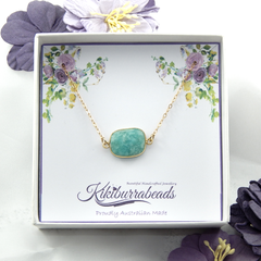 Amazonite Necklace Gold Filled Chain
