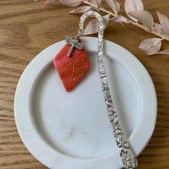 ASSORTED BOOKMARKS - Polymer Clay Charmed Metal Stamped Bookmarks