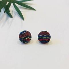 Coloured Dot Art Earrings