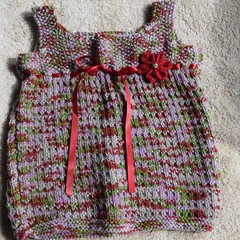 Hand knitted Toddler Dress. Size 12-18 months