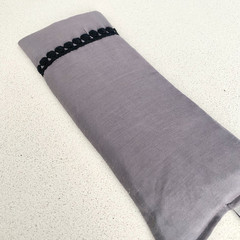 Eye Pillow- Grey Silk