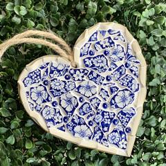'Aurora' - mosaic hanging  heart