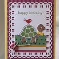 Birthday  Handmade Card - turtle