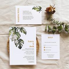 Belize   Printed Wedding Invitation Set