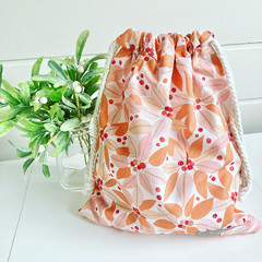Drawstring Bag/ Large/ Australian Native Plant/ Jocelyn Proust