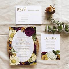 Bruges   Printed Wedding Invitation Set