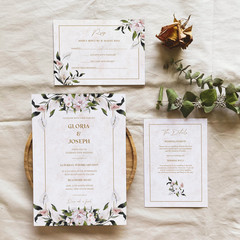 Bahamas   Printed Wedding Invitation Set