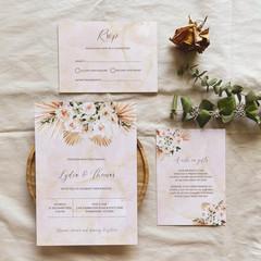 Mykonos | Printed Wedding Invitation Set