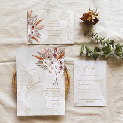 Coachella   Printed Wedding Invitation Set