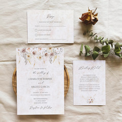 Angeles | Printed Wedding Invitation Set
