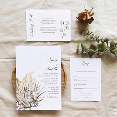 Bermuda | Printed Wedding Invitation Set